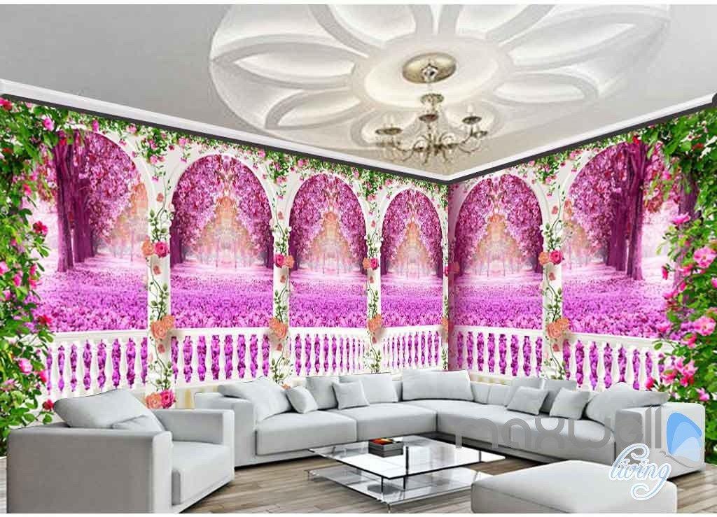 3D Rose Vine Arch Entire Room 3D Wallpaper Wall Murals Art