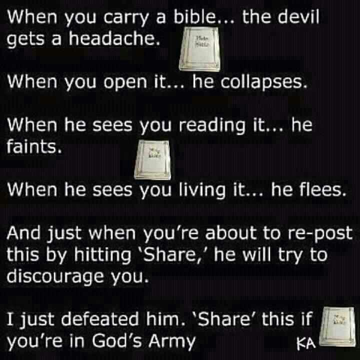 The Devil Is Always Busy Truths God Bible Prayers
