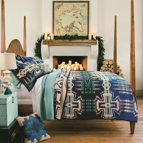 The stockings are hung, the tree is decorated and the fire is crackling. It's time to snuggle in and enjoy the warmth of the holidays. #pendleton #dream #sleep #cozy #warm #pendletonblankets #blankets