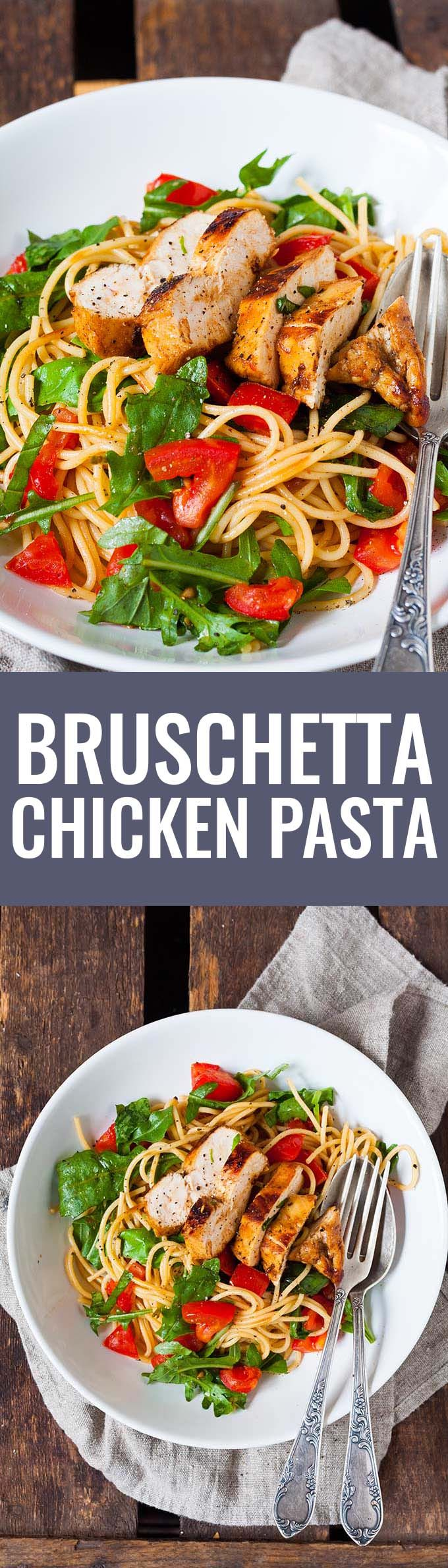 Photo of Schnelle Bruschetta Chicken Pasta – kochkarussell.com