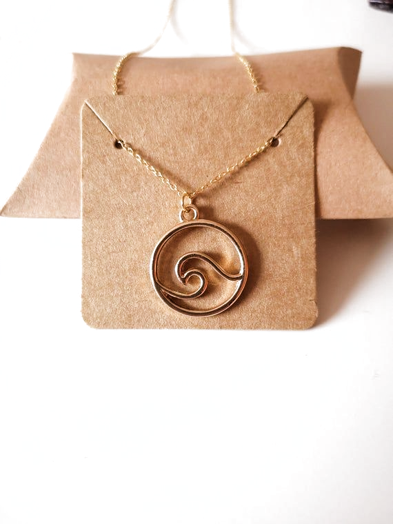 Wave Necklace, Gold Wave pendant on a dainty Shiny Gold chain, GIFT, Necklace Jewellery, pendant, gi ,  #Chain #dainty #DaintyJewelrynecklacegold #gift #Gold #Jewellery #Necklace #Pendant #Shiny #Wave