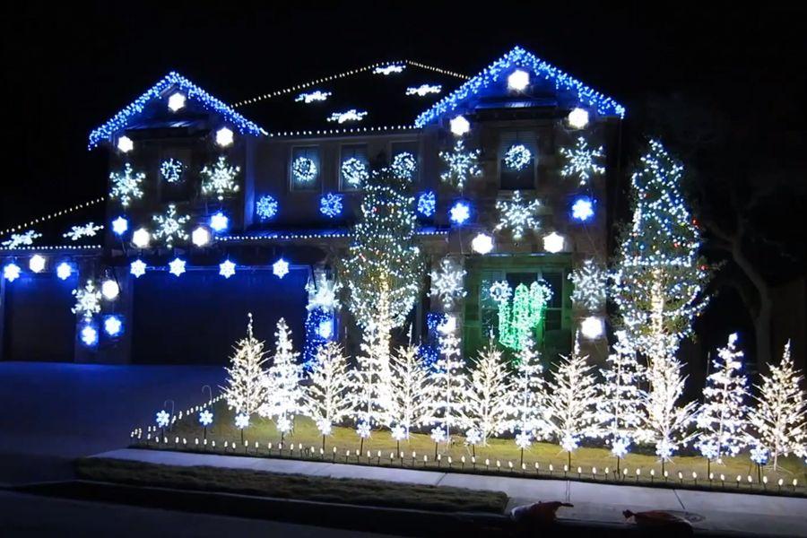 Illumination exterieur noel maison