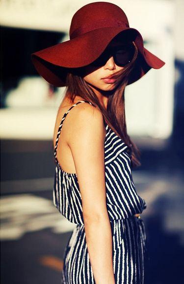 c41222be i'm a sucker for stripes and floppy hats | Fashion | Stripes fashion ...