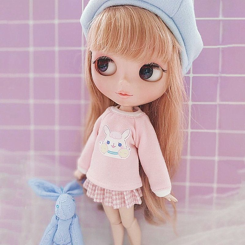 Cute Dolls Dress Outfit Clothing for 1//6 Blythe Azone Licca Dolls Accessory