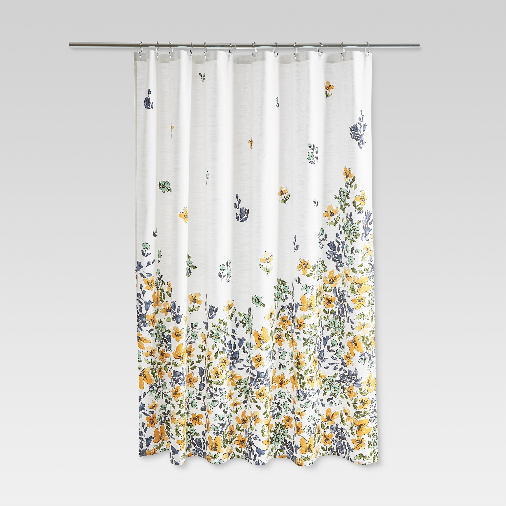Floral Print Shower Curtain Gold Medal Threshold Yellow