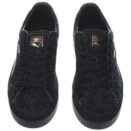 fd7cd906df4b womens puma black suede platform elemental trainers