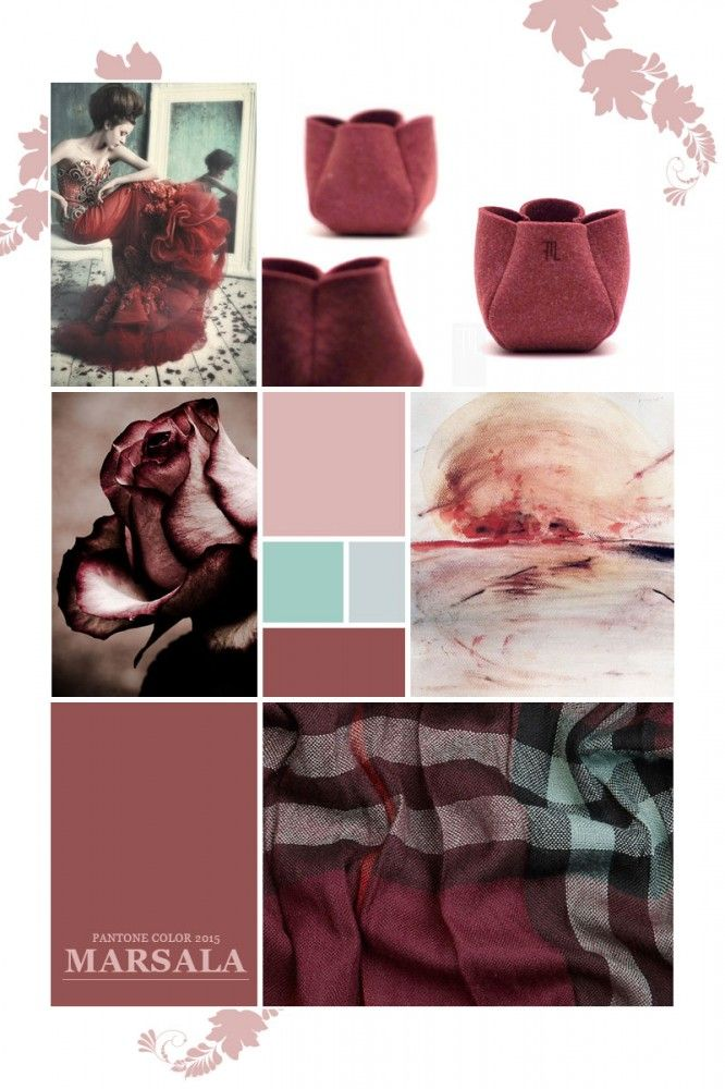 Marsala Color of the Year 2015 Moodboard