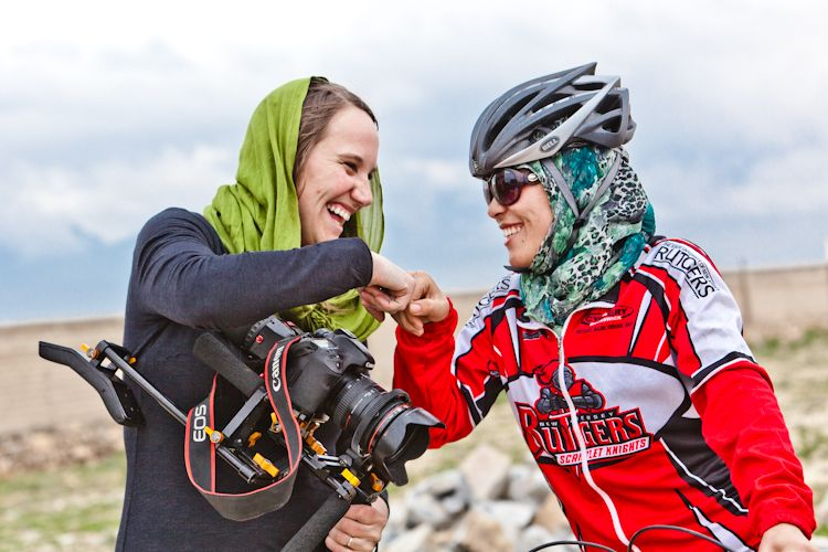 Image result for afghan women's cycling team