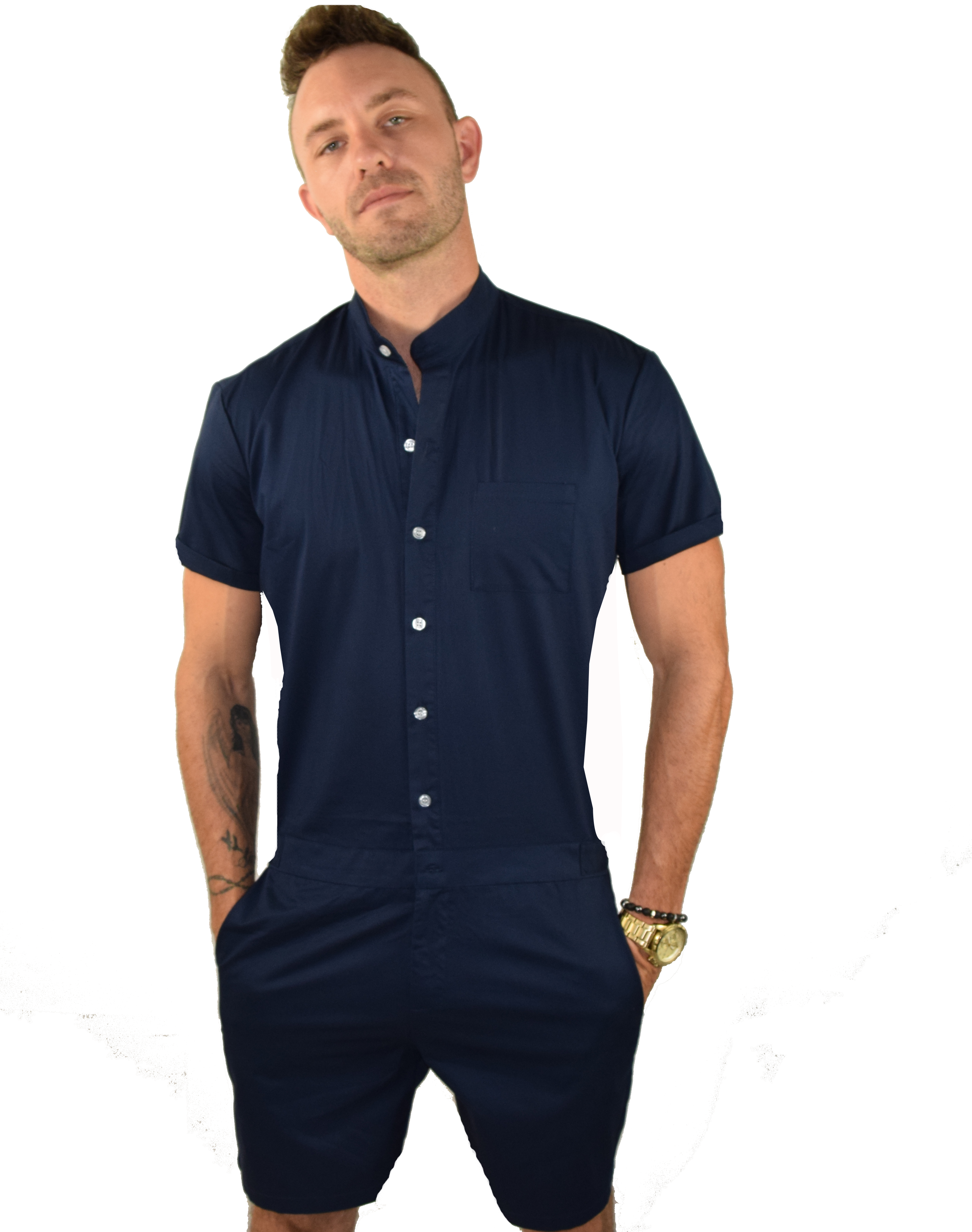 d80e2fa09833 The Original Male Romper in Dark Blue
