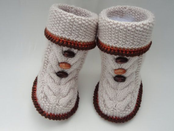 Knitting Pattern Baby Shoes Baby Boy Booties Baby por Solnishko42 ...