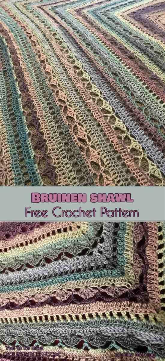 Bruinen Shawl [Free Crochet Pattern] | Stricken und häkeln ...