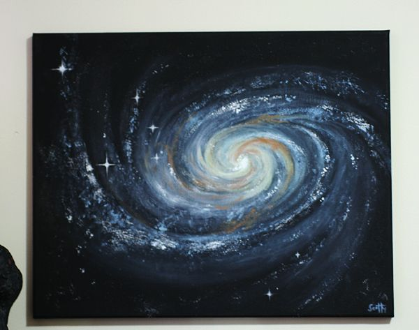 Galaxy painting in acrylics galaxy wall paint for How to paint galaxy