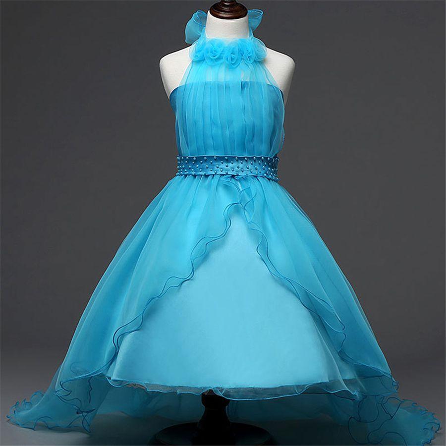 4-12T Teenage Girls Dresses Summer Floral Kids Clothes Girl Dress ...