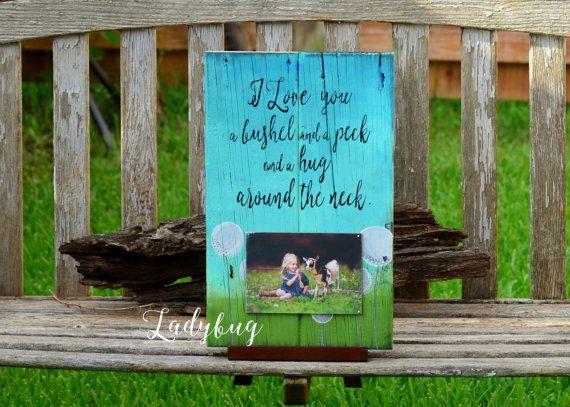 I love you a bushel and a peck and a hug by Ladybugdesignbyeu