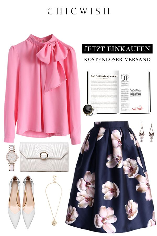 Peach blossom – midi skirt