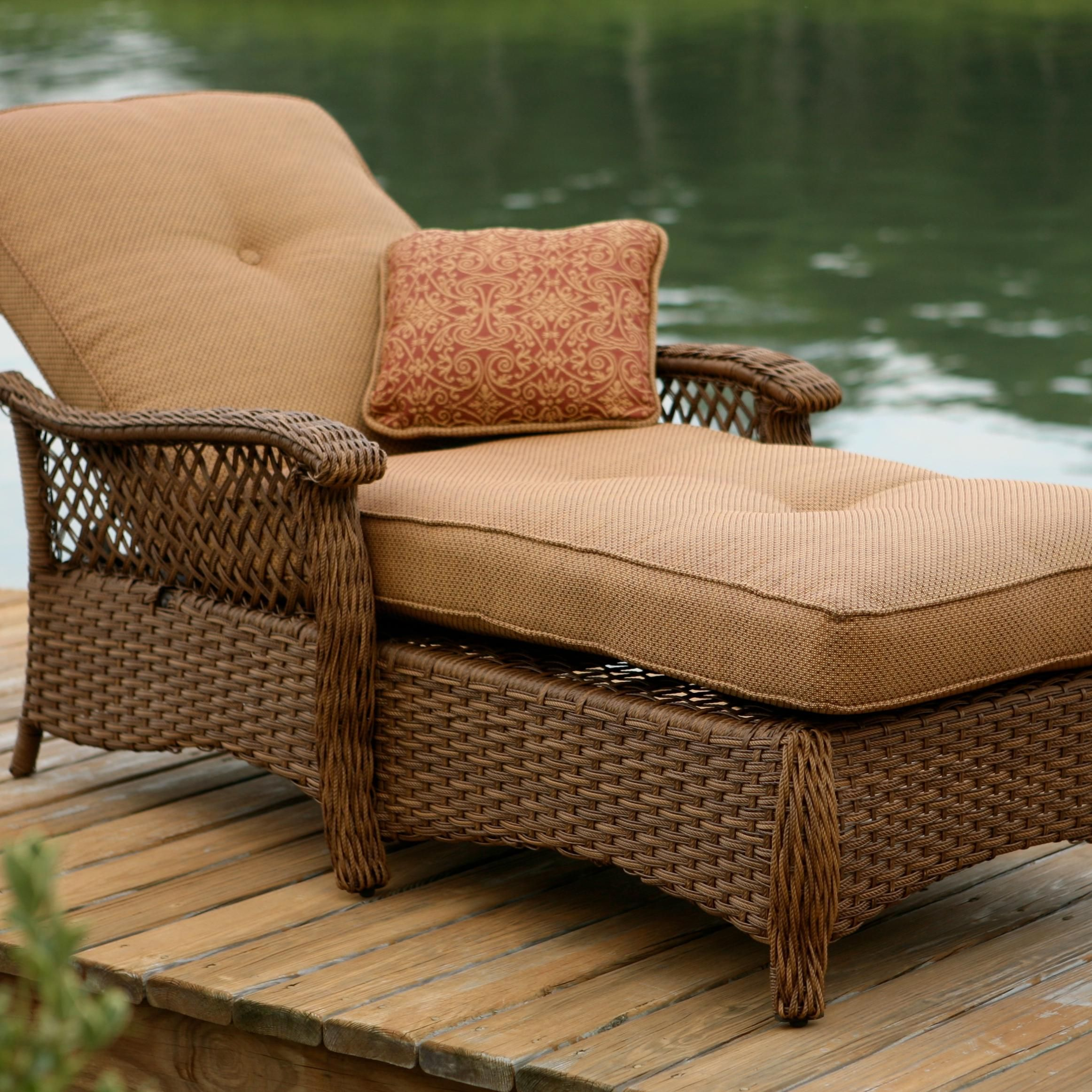 Veranda Agio Outdoor Woven Chaise Lounge By Agio Patio