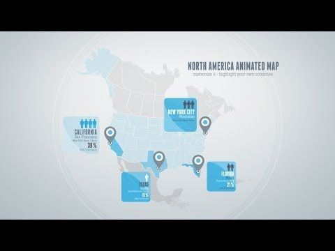6 included Animated Maps - After Effects Template - YouTube - animated maps