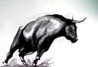 "Bull I | Ink on Paper | 11"" X 16"""