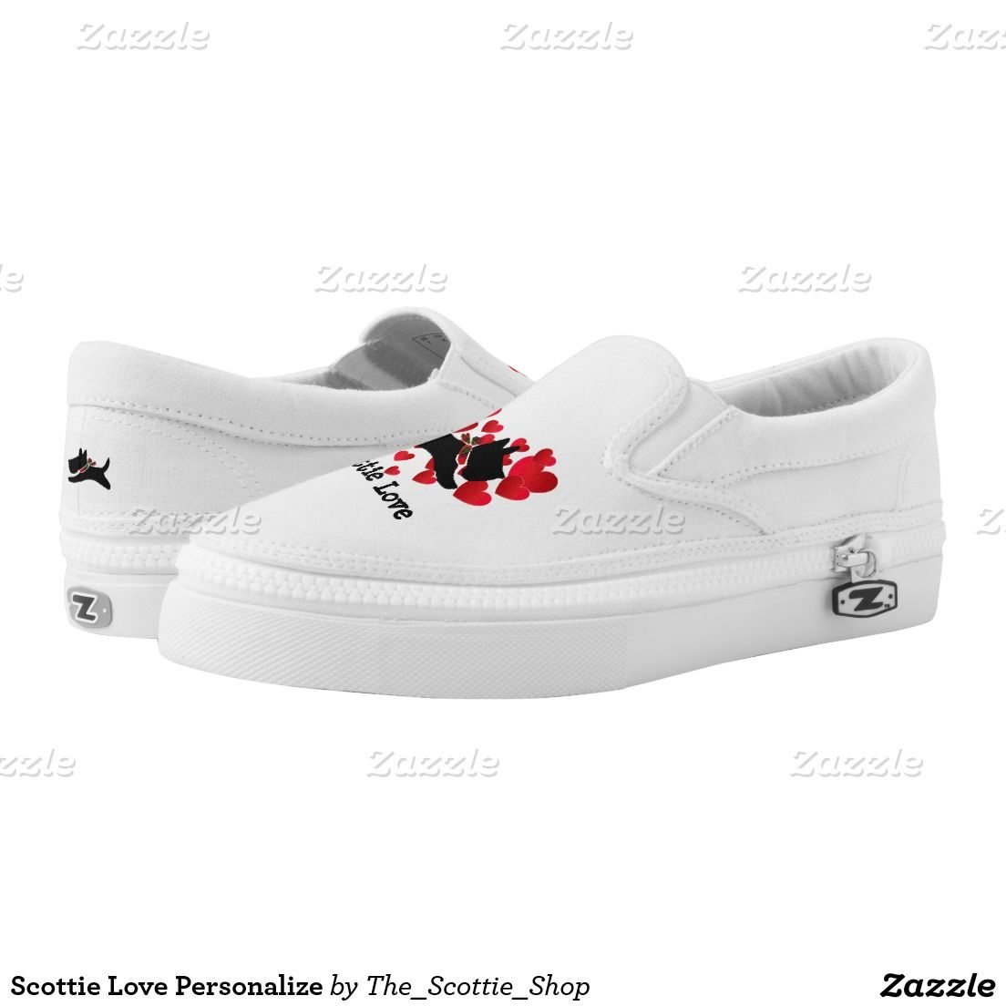 Scottie Love Personalize Printed Shoes