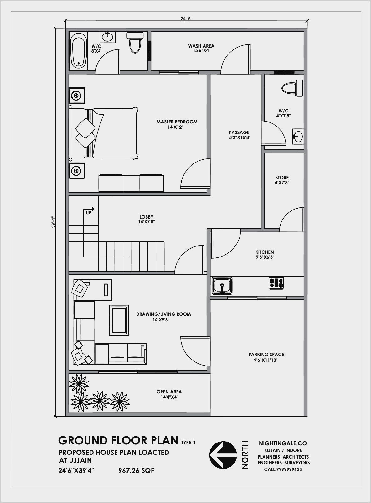 24 X 26 Master Bedroom Blueprint Ideas In 2020 20x30 House Plans Indian House Plans 20x40 House Plans