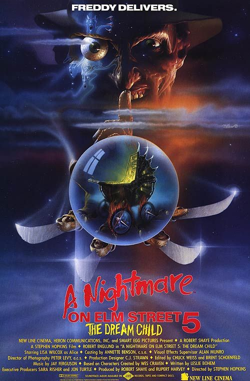 A Nightmare On Elm Street 5 The Dream Child Filmes De Terror
