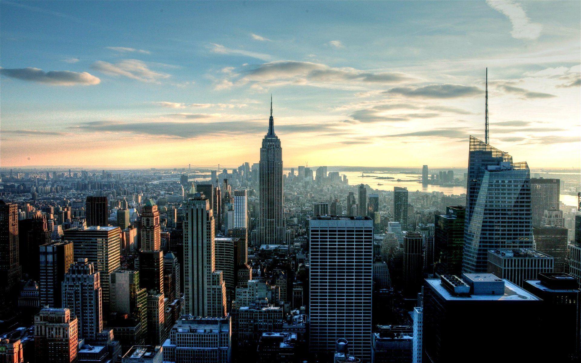Early Morning New York City New York Wallpaper Macbook Pro Wallpaper City Wallpaper