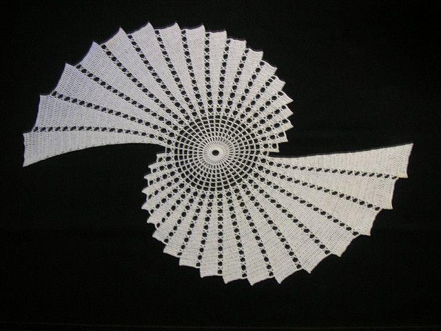 Twin Sea Shell Doily Free Crochet Spiral And Crochet
