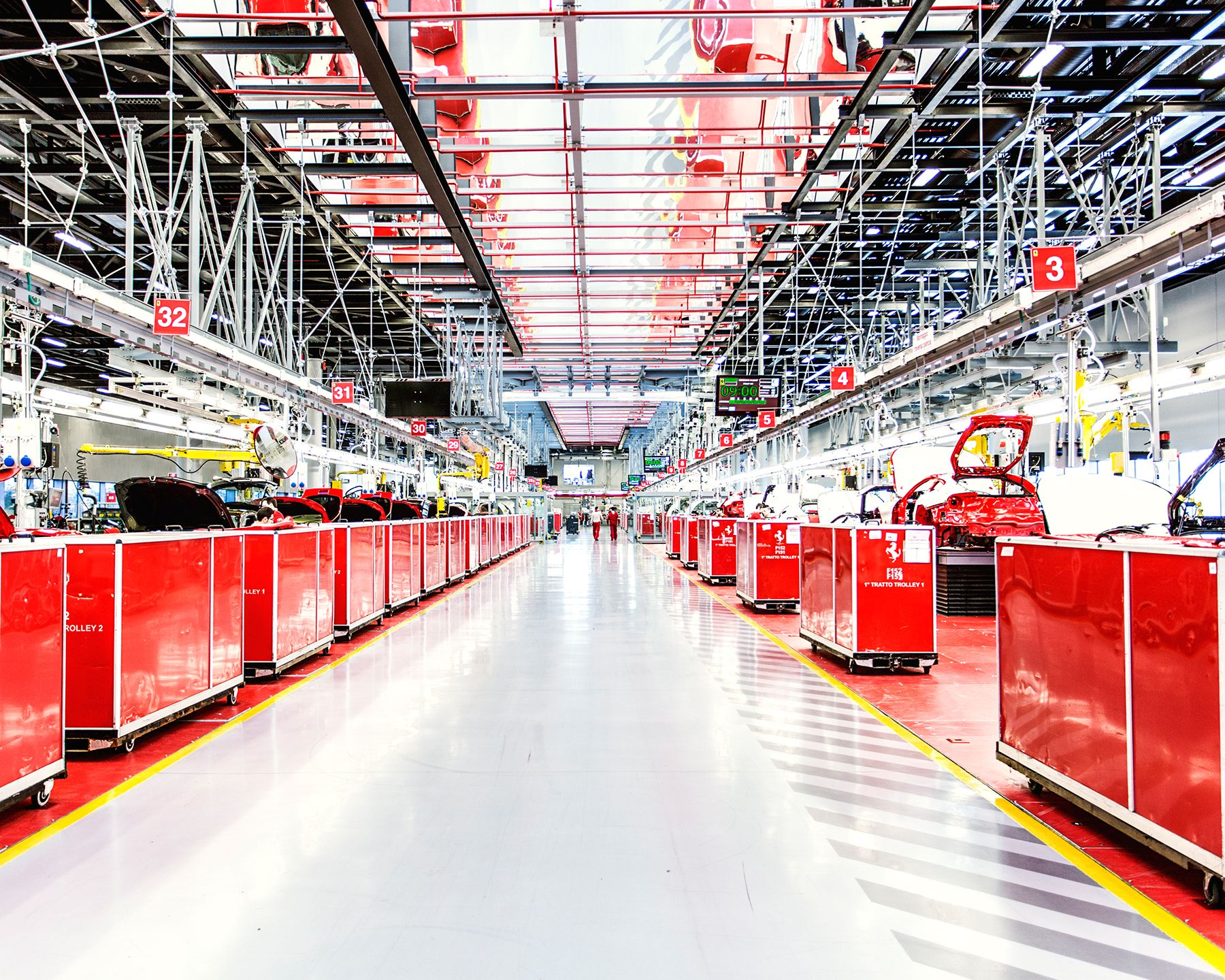 A Rare Peek Inside The Famed Factory Where Ferraris Are Born Factory Architecture Factory Design Factory Photography