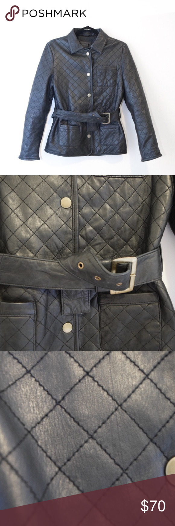 WILSON'S LEATHER Quilted Plush Leather Jacket in 2020