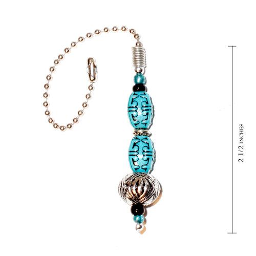 Decorative Light Pull Chain Fair Vintage Antiqued Blue Decorative Ceiling Fan Light Pull Chain And Review