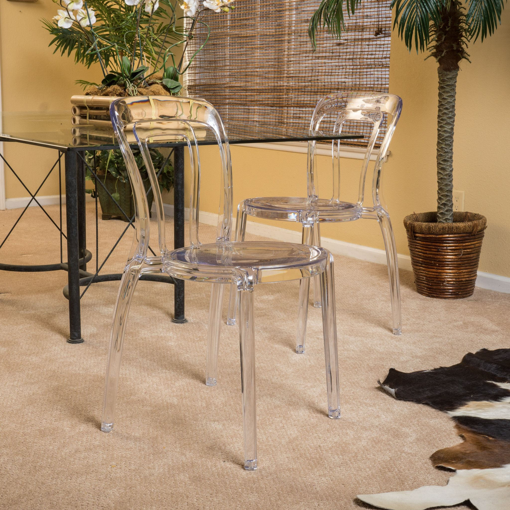Best Febian Transparent Pc Ghost Accent Chairs Set Of 2 400 x 300
