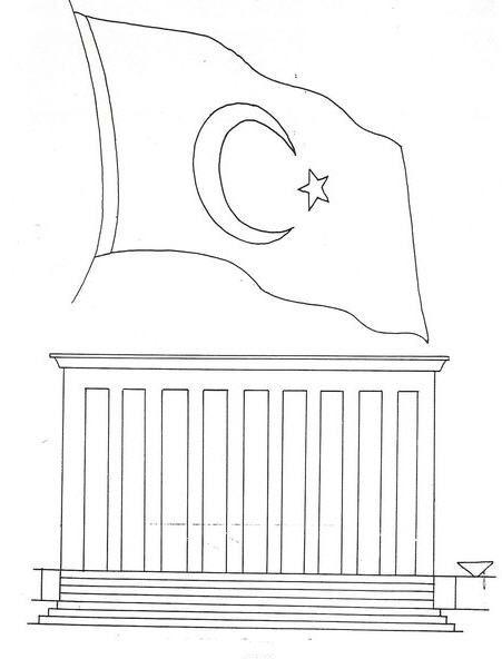 Anitkabir Ve Türk Bayragi Boyama Atatürk Preschool Art