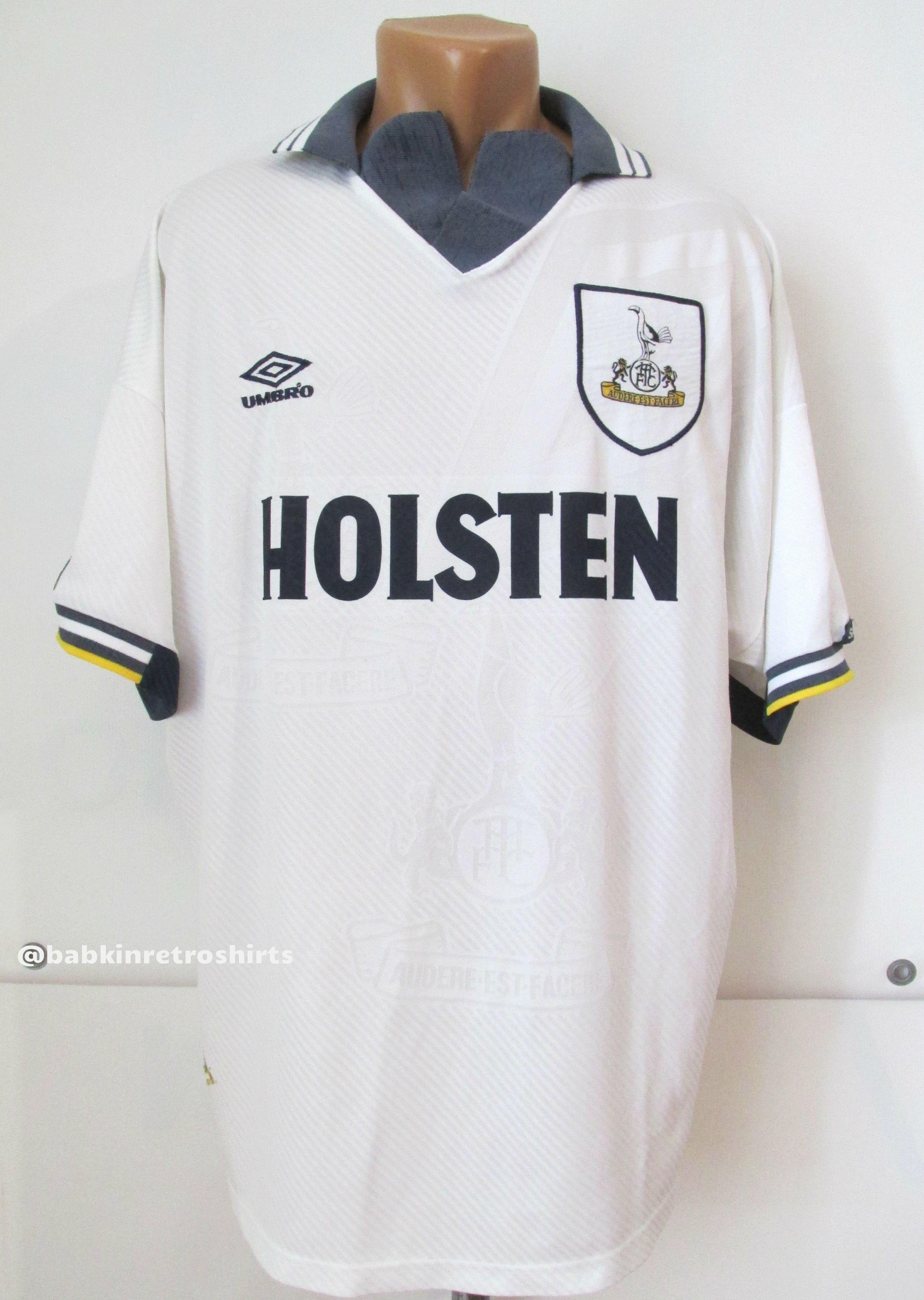 Tottenham Hotspur 1993 1994 1995 home football shirt by Umbro Spurs Holsten  retro vintage 90s jersey  jersey  football  soccer  white  umbro  tottenham  ... 1021bda78