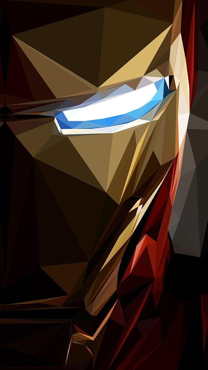 Iron Man Low Poly Art Eyes IPhone Wallpaper wallpaper