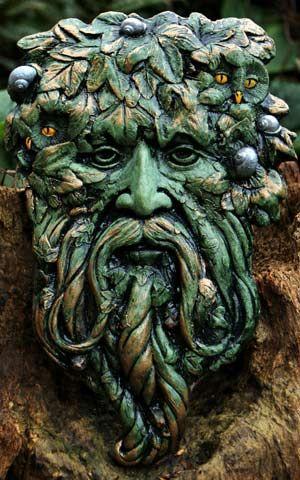 3 Gort Green Man Forest Green Finish Green Man
