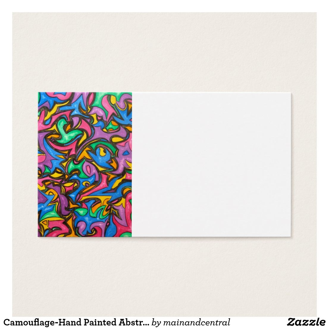 Camouflage-Hand Painted Abstract Art Business Card | Business cards