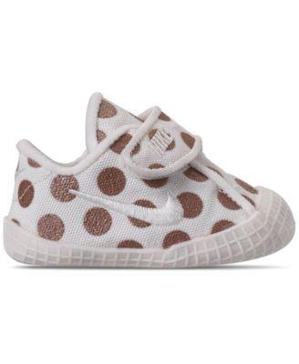 839961798 Nike Girls  Infant Waffle 1 Premium Crib Booties from Finish Line - White 2