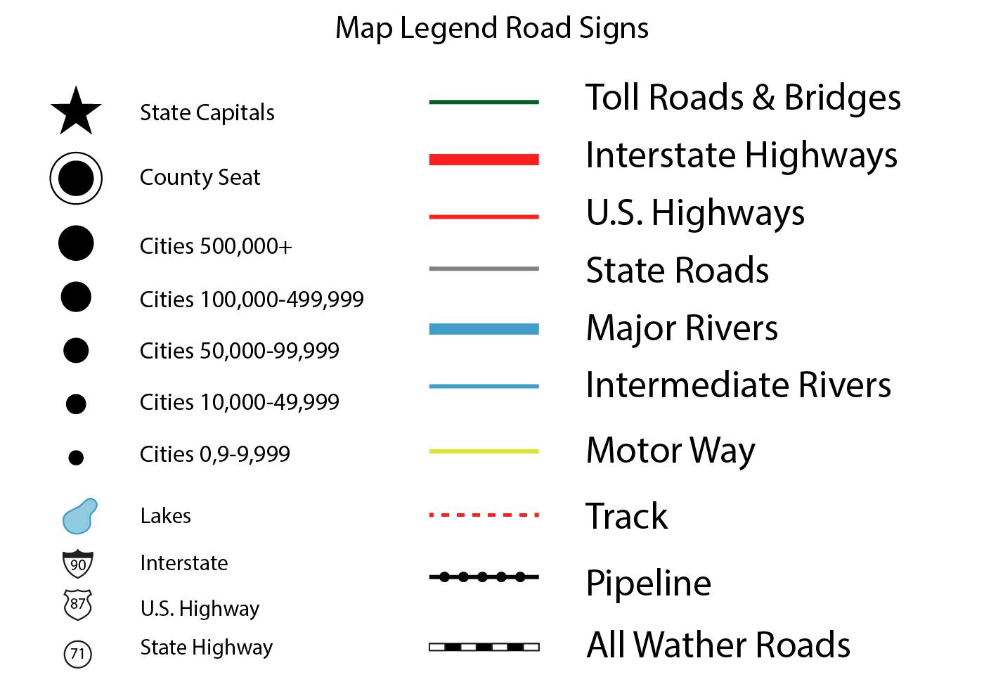 Free Map Legend Vector Cartography Map Map Symbols Map