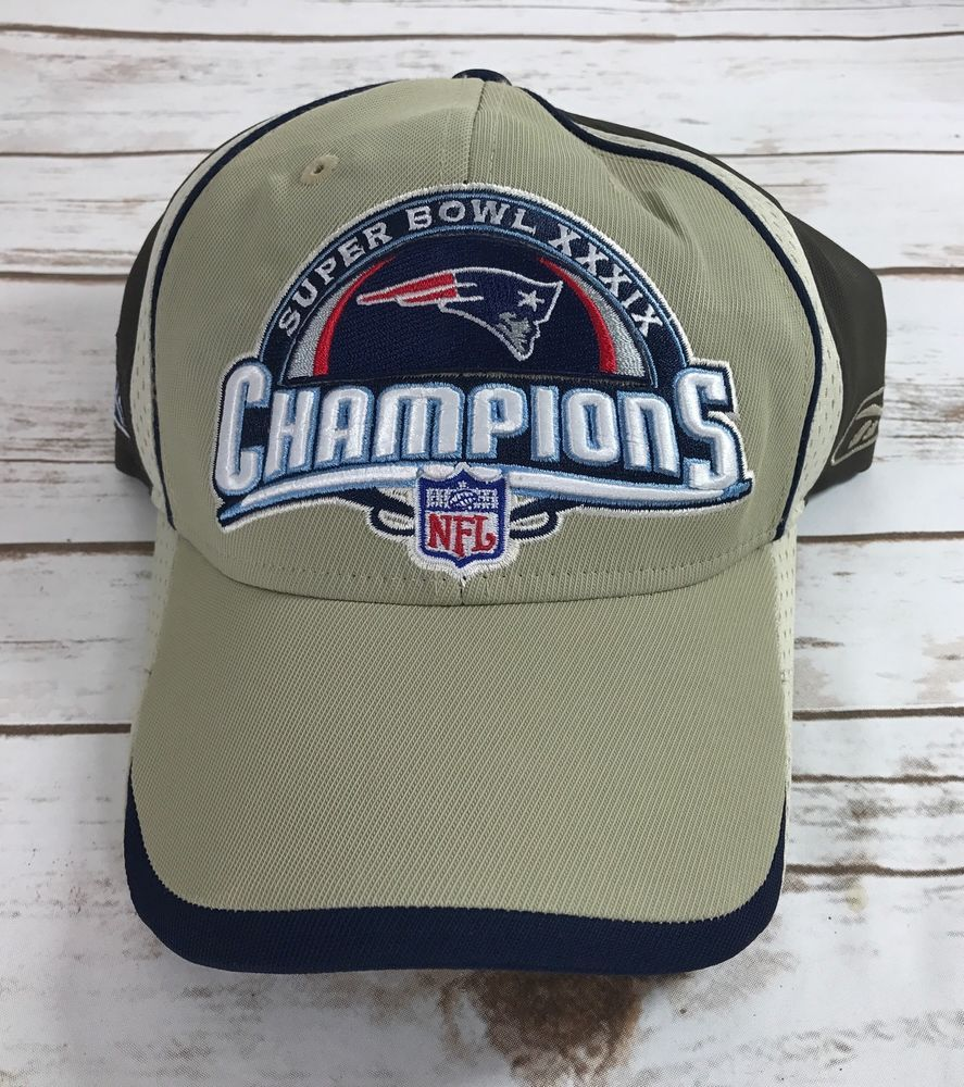 Super Bowl XXXIX 39 New England Patriots Champions Locker Room Hat By  Reebok  Reebok  NewEnglandPatriots e2138df7e