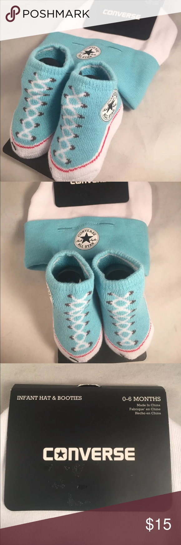 Converse Baby Booties   Hat New with Tags. Converse Chuck Taylor Infant Hat  and 1 158668a019c6