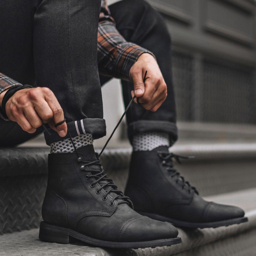 Captain Black Matte In 2021 Boots Outfit Men Black Boots Men Mens Boots Fashion [ 1024 x 1024 Pixel ]