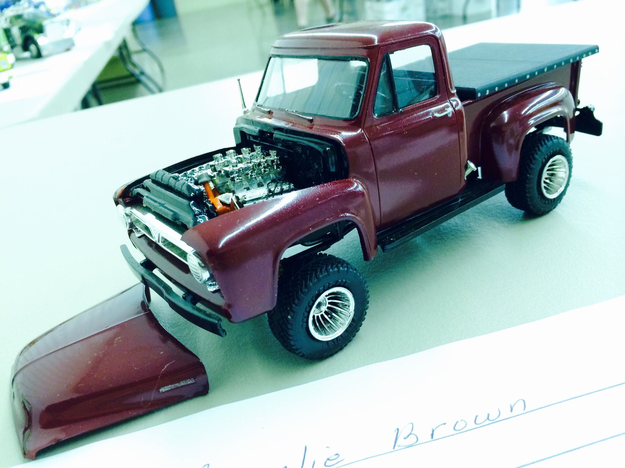 1953 ford pickup scale model by charlie brown toys pinterest scale models ford and models. Black Bedroom Furniture Sets. Home Design Ideas