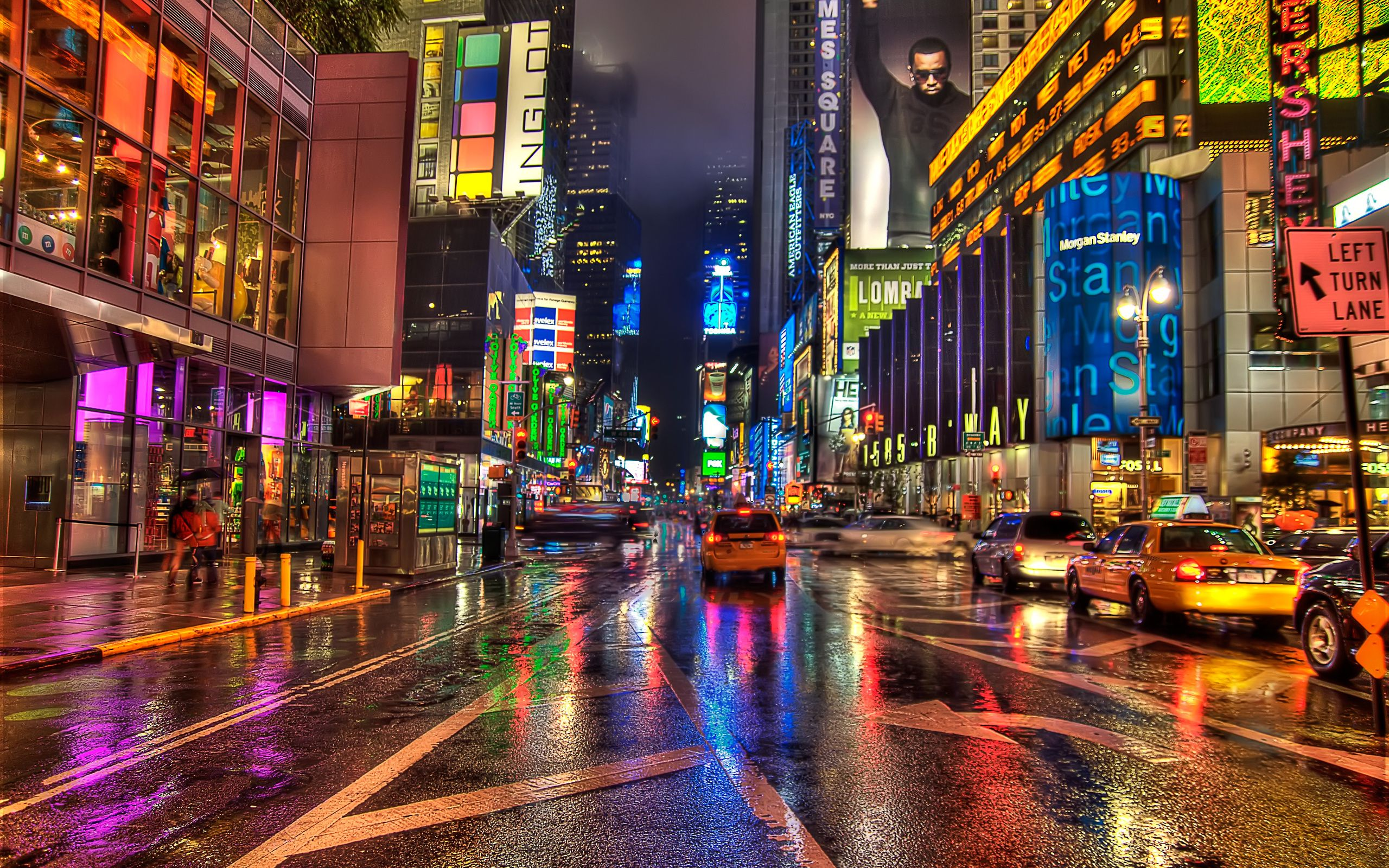New York Hd New York Wallpaper Nyc Times Square City Wallpaper City buildings road cars night street