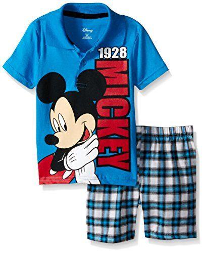 Disney Boys Toddler Mickey Polo 2 Piece Short Set