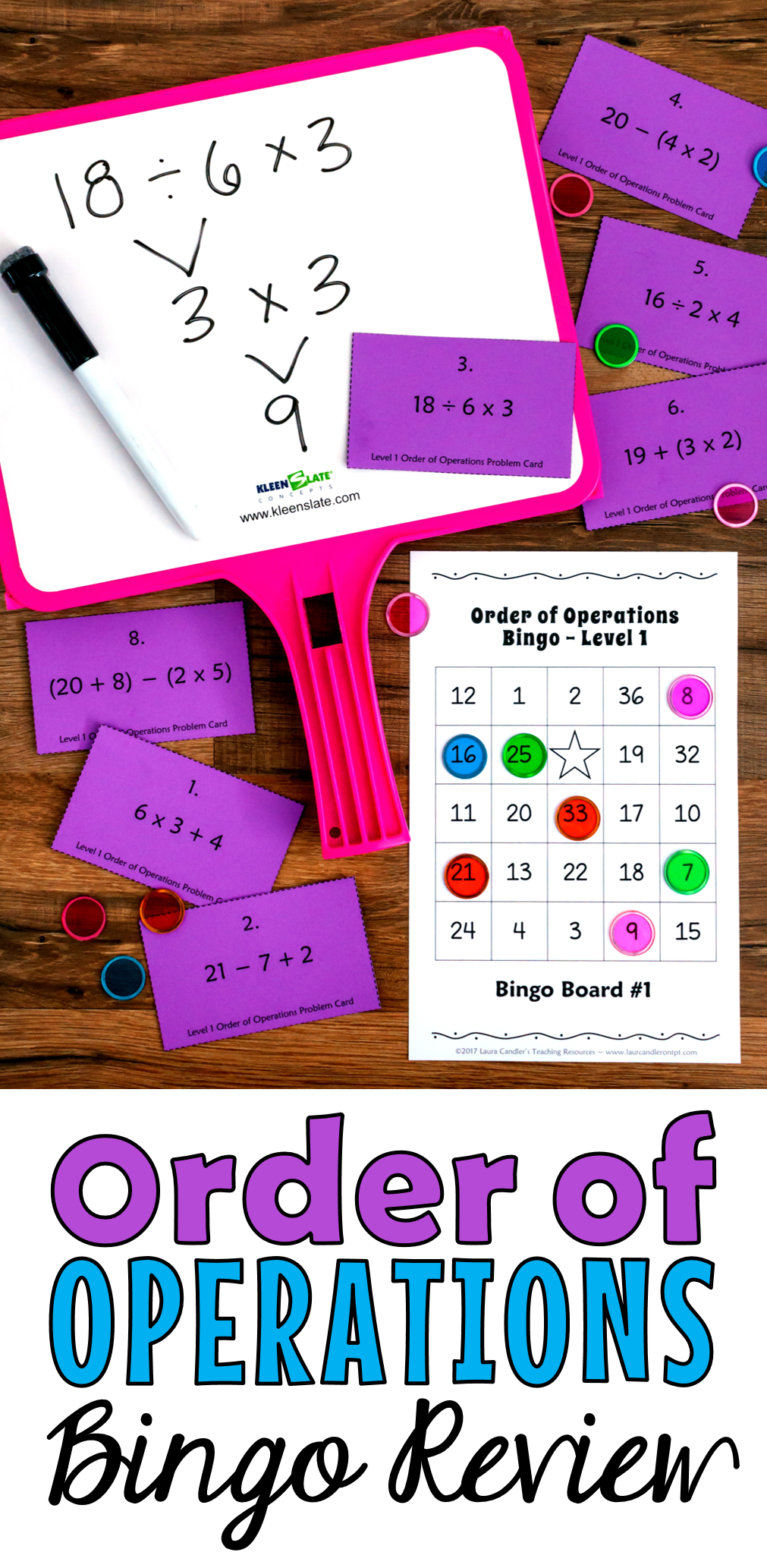 This is a graphic of Juicy Order of Operations Game Printable