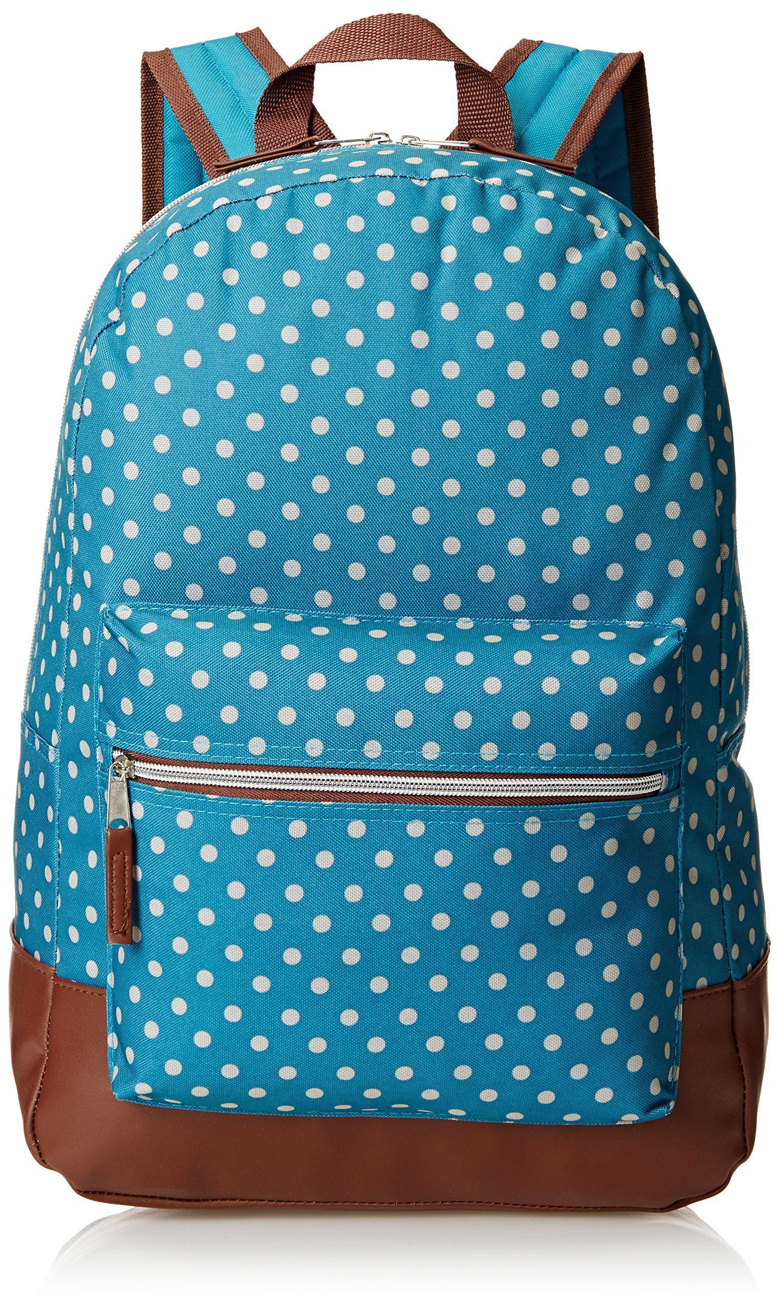 trailmaker girls dots backpack teal one size