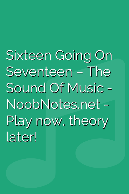 Sixteen Going On Seventeen - The Sound Of Music | Orchestra & Other