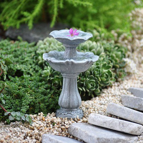 Miniature Fairy Garden Double Birdbath Georgetown Home U0026 Garden,http://www.
