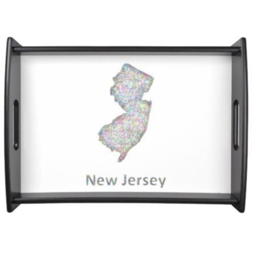 New Jersey map Serving Tray $66.25