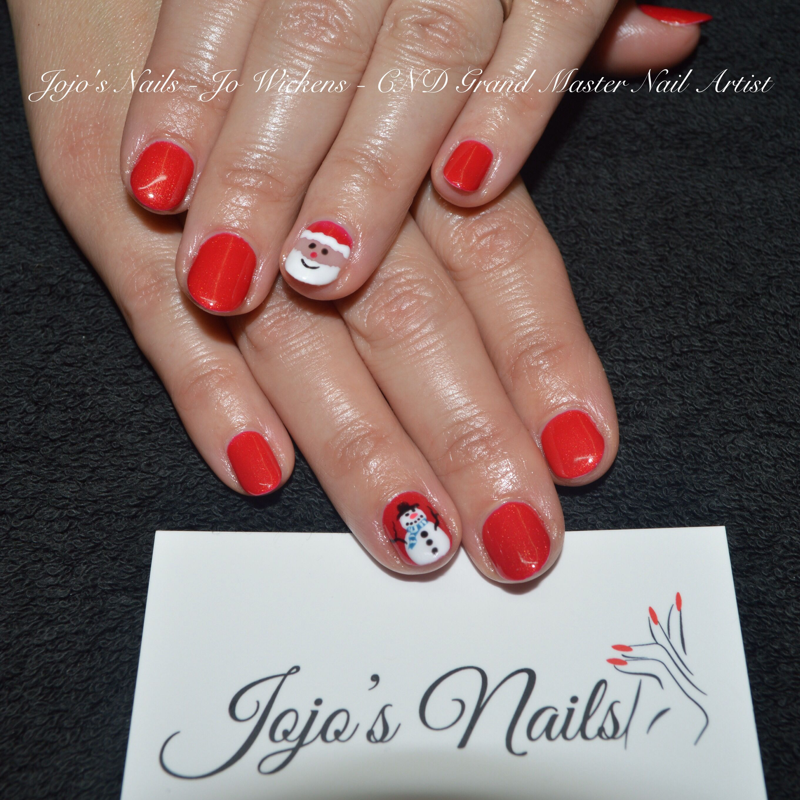 Cnd Shellac Manicure With Hand Painted Nail Art By Jo Wickens